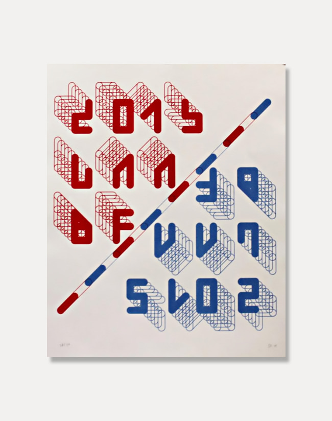[지그리드 칼론] 2015 LAABF Poster [Red/Blue]28 x 34 cm