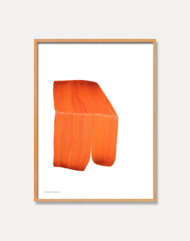 [로낭 부홀렉]Ronan Bouroullec — DRAWING 1,Orange (액자포함) 50 x 67.5 cm