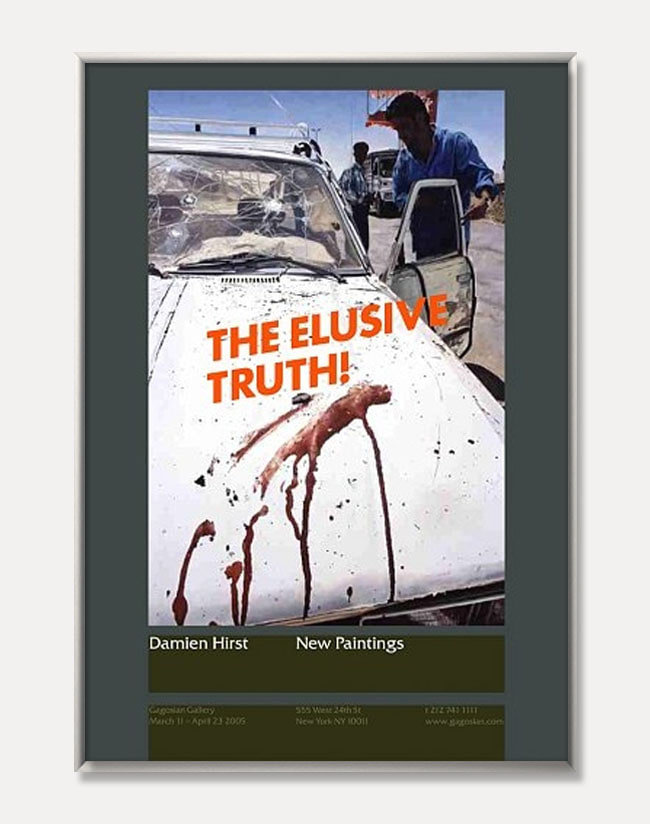 [데미언 허스트]Damien Hirst — The Elusive Truth Poster (Suicide Bomber (Aftermath) (액자포함) 70 × 100 cm