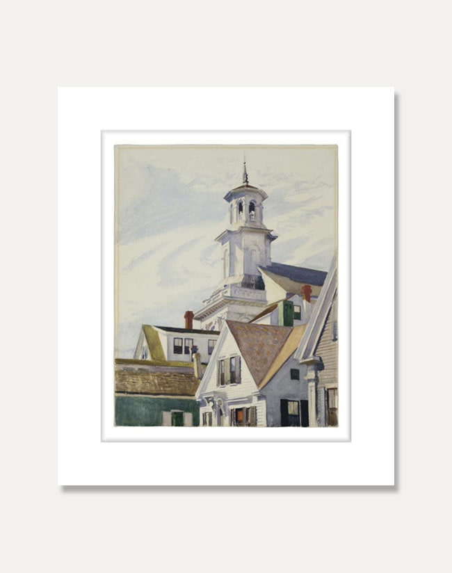 [에드워드 호퍼] Methodist Church Tower  56 x 71 cm