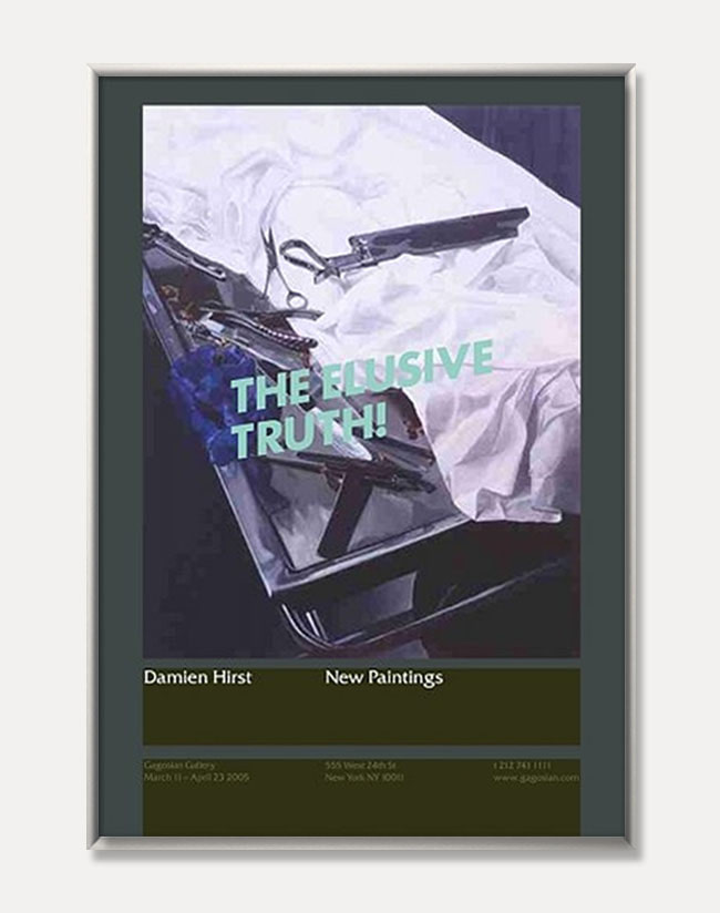 [데미언 허스트]Damien Hirst — The Elusive Truth Poster (Dissection Table with Tools) (액자포함) 70 × 100 cm