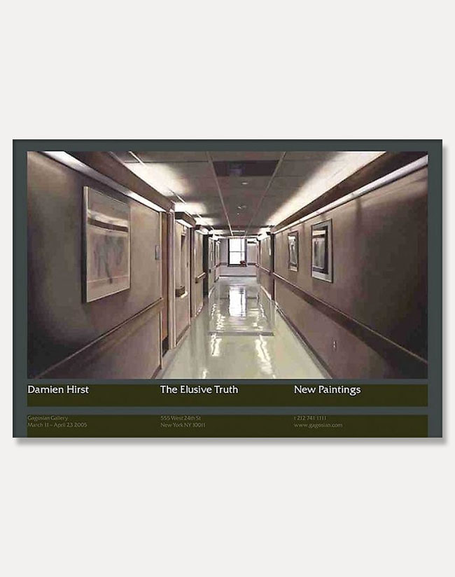 [데미언 허스트]Damien Hirst — The Elusive Truth Poster (Hospital Corridor) (액자포함) 100 × 70 cm