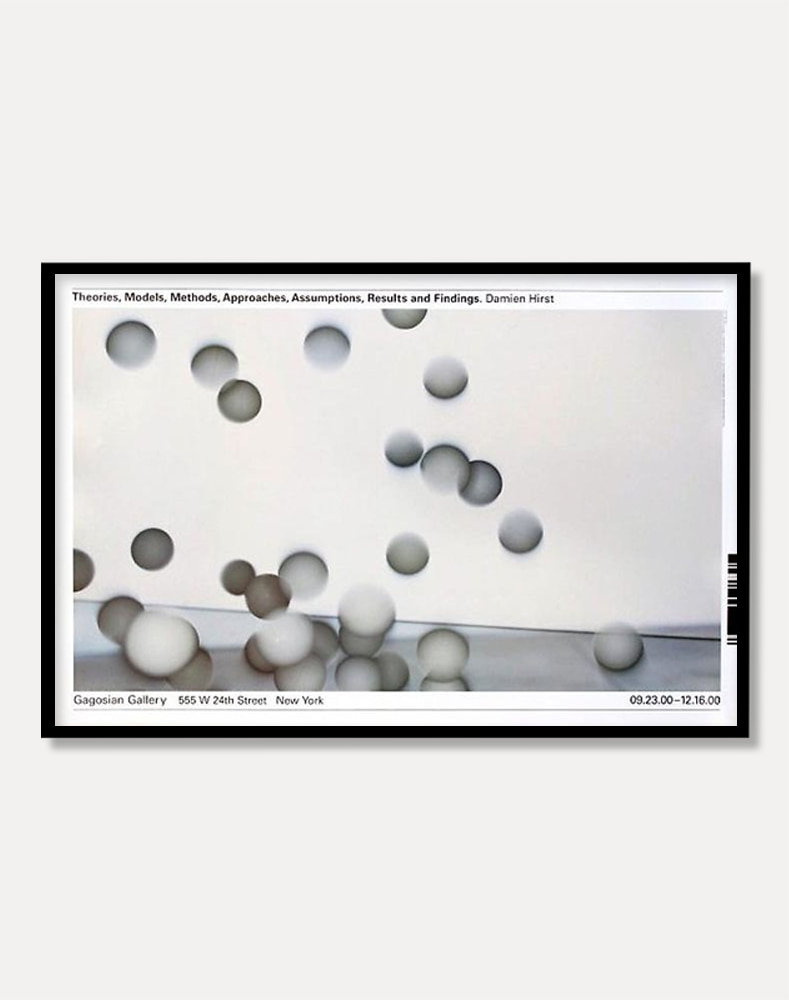 [데미언 허스트]Damien Hirst — Damien Hirst Theories, Models, Methods, Approaches, Assumptions, Results and Findings  (액자포함) 60 × 91.5 cm 주문 후 1개월 소요