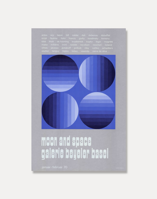 Moon and Space,1970 (액자포함)54 × 81 cm