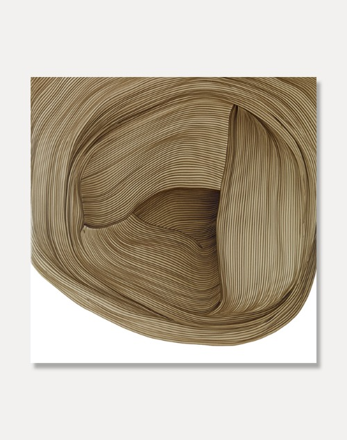 [로낭 부홀렉]Ronan Bouroullec — DRAWING 5,Brown 67.5 x 67.5 cm