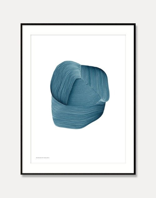 [로낭 부홀렉]Ronan Bouroullec — DRAWING 3,Blue (액자포함) 50 x 67.5 cm