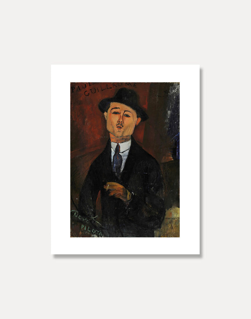 [아메데오 모딜라니]AMEDEO MODIGLIANI ― Paul Guillaume, Novo Pilota  20 x 25 cm