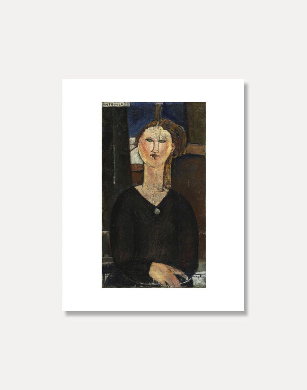 [아메데오 모딜라니]AMEDEO MODIGLIANI ― Antonia 20 x 25.5 cm